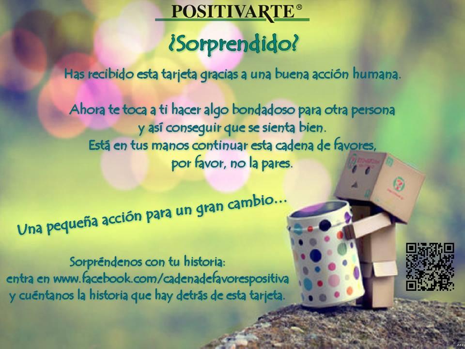 cadena de favores positiva positivarte