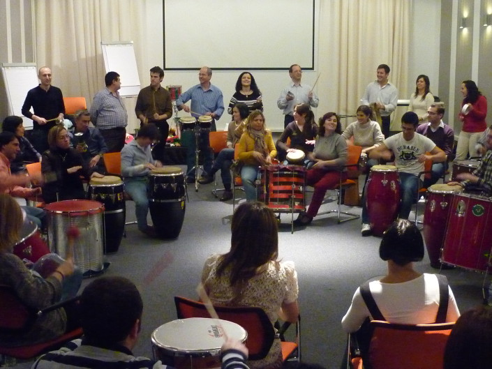 MusicArte positivarte taller de percusión eventos incentivos Organización