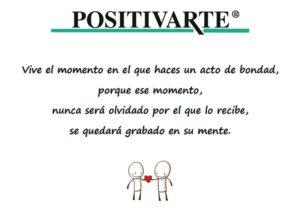 Cadena de favores positiva - Bondad - Generosidad - Actos de Bondad - Difundir el arte de vivir en positivo