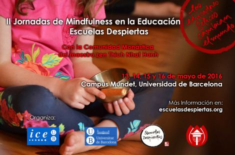 II Jornadas de Mindfulness en la educación. Escuelas Despiertas con la comunidad monástica de Thich Nhat Hanh