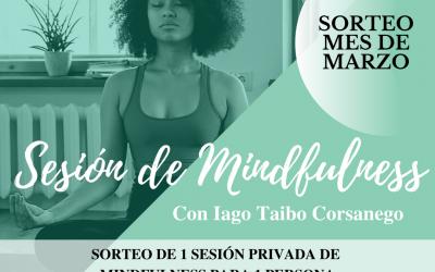 Sesión de Mindfulness gratuita sorteo del mes de marzo