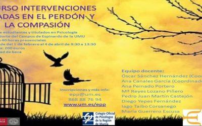 III Curso de Intervenciones Psicológicas basadas en el Perdón y la Compasión